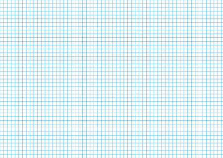 millimeters: Five millimeters cyan grid on a4 size horizontal sheet Illustration