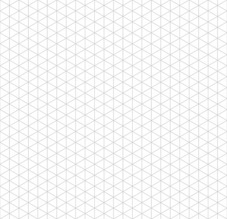 Gray isometric grid with vertical guideline on white, seamless pattern