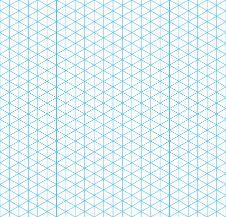 grid pattern: Cyan isometric grid with vertical guideline on white, seamless pattern Illustration