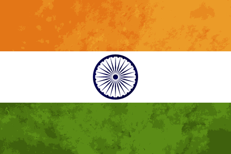wave tourist: True proportions India flag with grunge texture