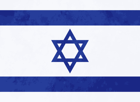 jewish group: True proportions Israel flag with grunge texture
