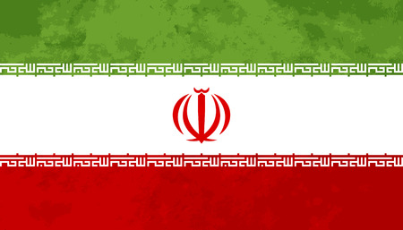 proportions: True proportions Iran flag with grunge texture