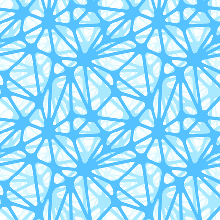 neural: Blue neural net on white, seamless pattern Illustration
