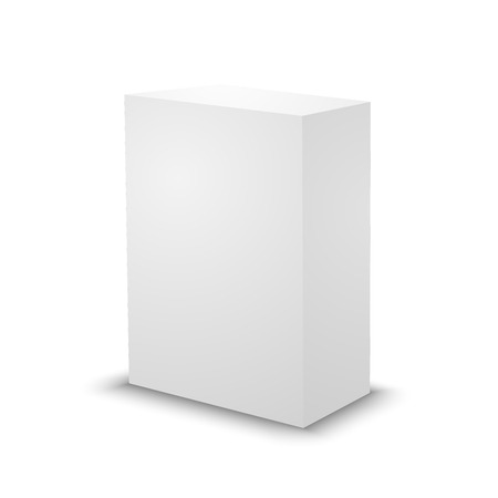Blank White Prism On White Background 3d Box Template Royalty Free