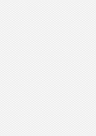 Gray isometric grid on white, a4 size vertical background