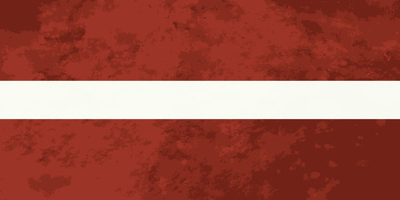 latvia flag: True proportions Latvia flag with grunge texture