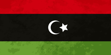 libya: True proportions Libya flag with grunge texture Illustration