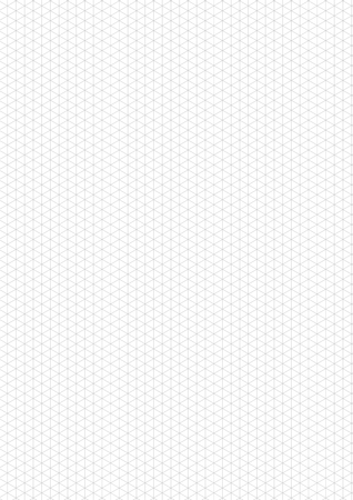 guideline: Gray isometric grid with vertical guideline on vertical a4 sheet size