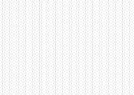 Grille isométrique grise avec ligne directrice verticale sur la taille de la feuille horizontale a4 Vecteurs