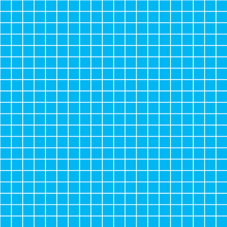 millimeters: Five millimeters square white grid on blue, blueprint seamless pattern