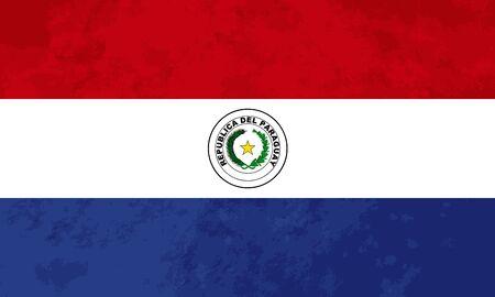 bandera de paraguay: proporciones verdaderas bandera de Paraguay con textura del grunge