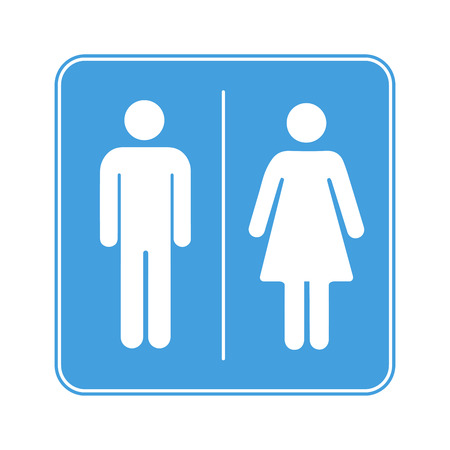 wc sign: Men and women toilet WC sign isolated on white