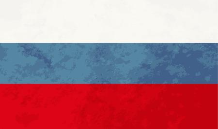 bandera rusia: proporciones verdaderas bandera de Rusia con la textura del grunge Vectores