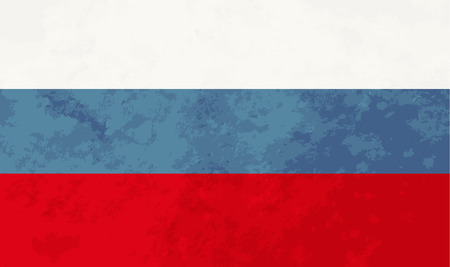 russia flag: True proportions Russia flag with grunge texture