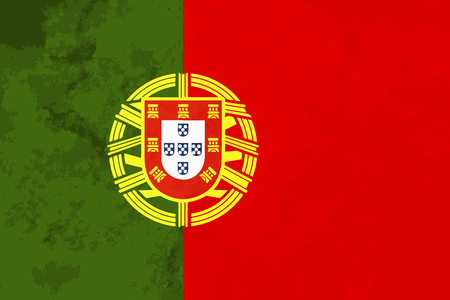drapeau portugal: True proportions Portugal flag with grunge texture Illustration
