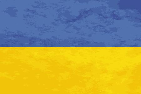 ukraine flag: True proportions Ukraine flag with grunge texture