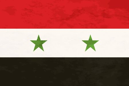 proportions: True proportions Syria flag with grunge texture
