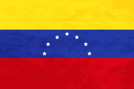 venezuela flag: True proportions Venezuela flag with grunge texture