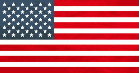 True proportions USA flag with grunge texture