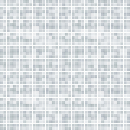 pixelated: Abstract grayscale pixelated seamless pattern on white Illustration