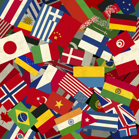 different countries: A lot of different countries flags seamless pattern