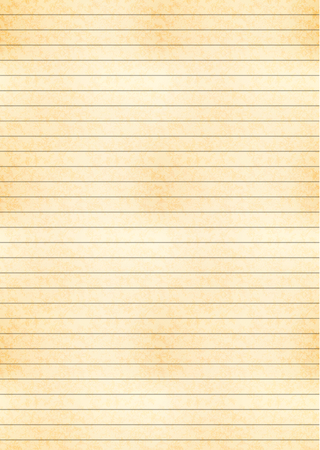 Vertical a4 size yellow sheet of old paper with one centimeter grid Illustration