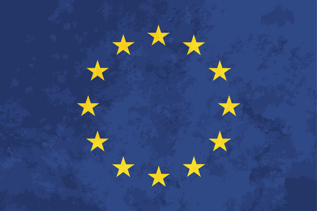 proportions: True proportions European Union flag with grunge texture