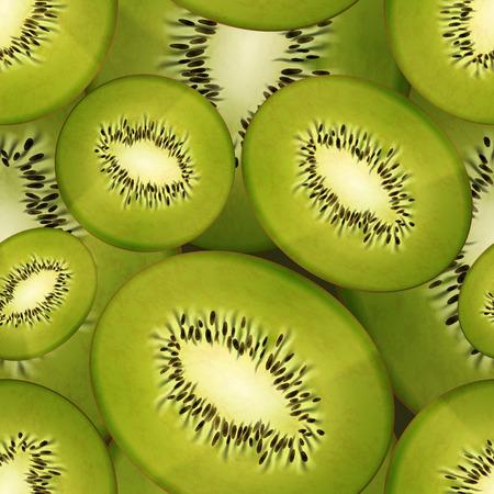 fruity: Slices of bright juicy kiwi, fruity seamless pattern