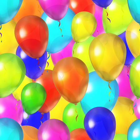 A lot of bright colorful balloons, seamless pattern