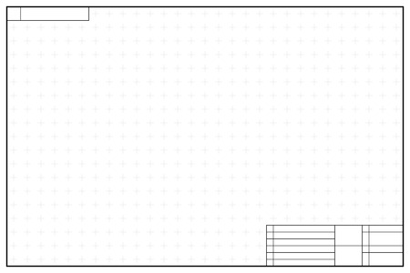 Layout template in blueprint style with marks