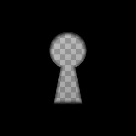 key hole: Black keyhole shape on transparent background