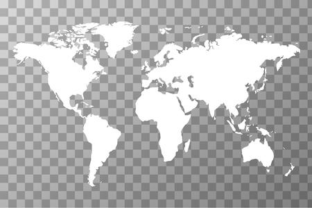 Weltweite Karte auf transparentem Hintergrund Vektorgrafik