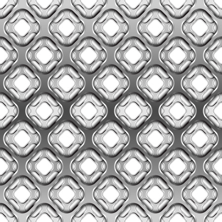 Glossy metallic grid with shadow, seamless pattern
