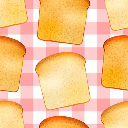 toasted: Bright tasty toasts, breakfast seamless pattern