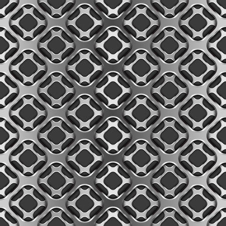 Grille métallique avec l'ombre sur le noir, modèle sans couture Vecteurs