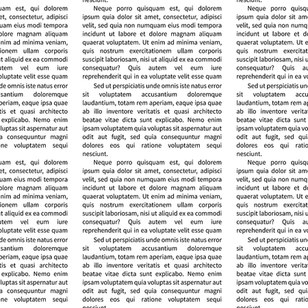 A lot of latin text on white, abstract seamless pattern
