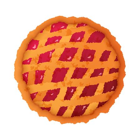 Kleurrijke taartpictogram geïsoleerd op wit Stock Illustratie