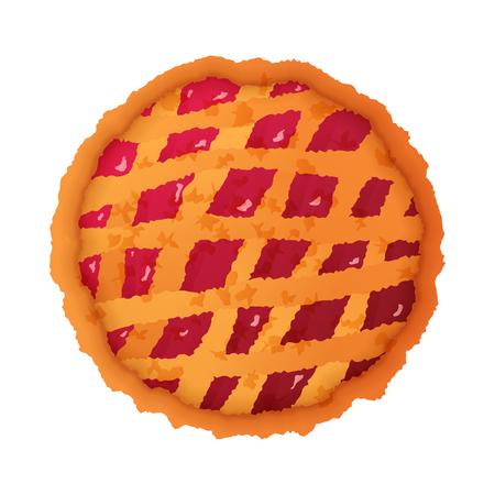 Colorful pie icon isolated on white