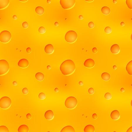 Bright realistic tasty yellow cheesy seamless pattern Illustration