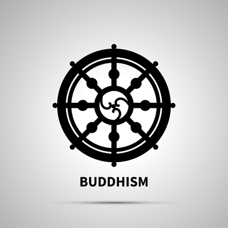A Buddhism religion simple black icon Illustration