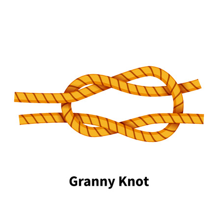 Granny sea knot vector illustration