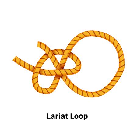 Lariat Loop sea knot vector illustration Illustration
