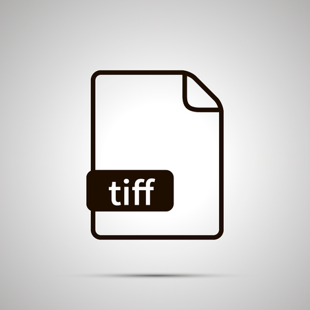 Simple black file icon with tiff extension