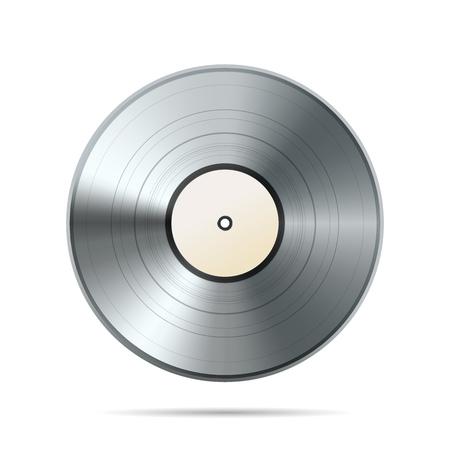 Platinum album vinyl disc template isolated on white