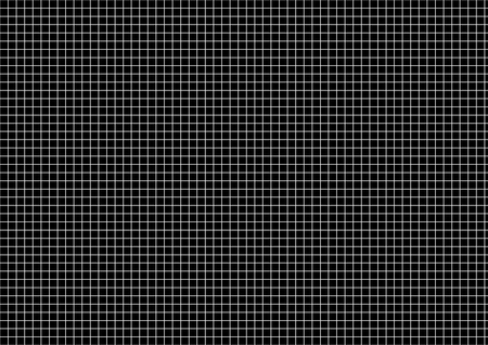 Five millimeters white grid on a4 size horizontal sheet