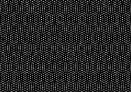 White isometric grid with vertical guideline on horizontal black a4 sheet size