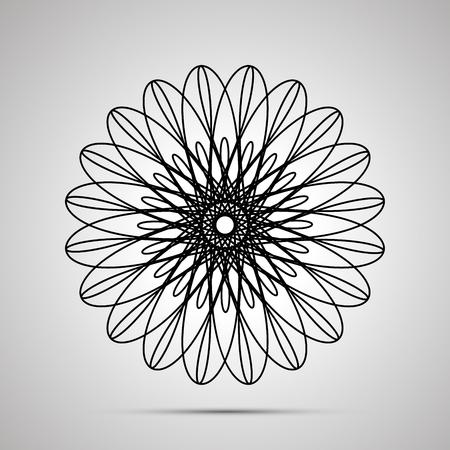 Icône noire simple guillochée avec ombre
