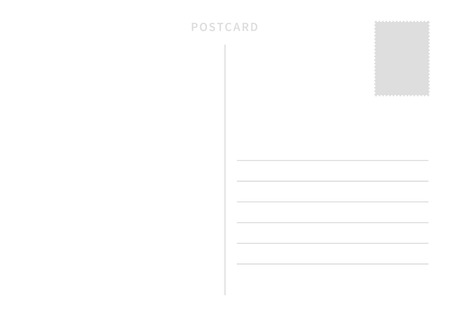 Simple postcard template with place for stamp and address