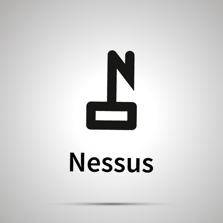 Nessus astronomical sign, simple black icon with shadow