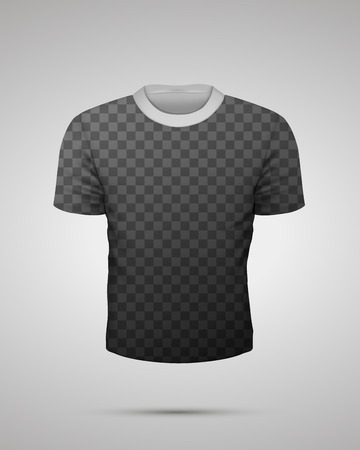 Template of sport t-shirt with shadows on transparent